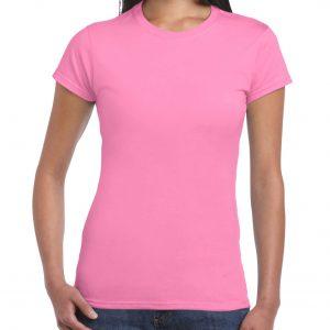 bomulls t-skjorte for dame med trykk