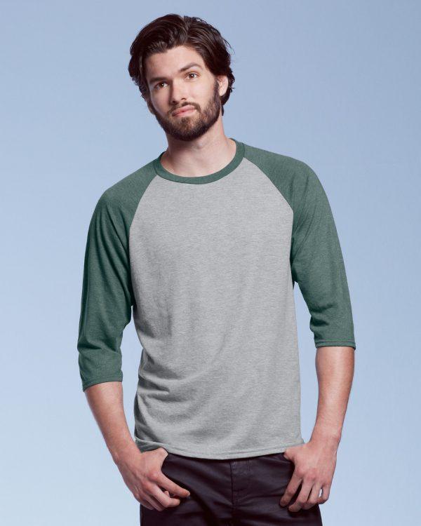 3/4-ermet t-skjorte med kontraster
