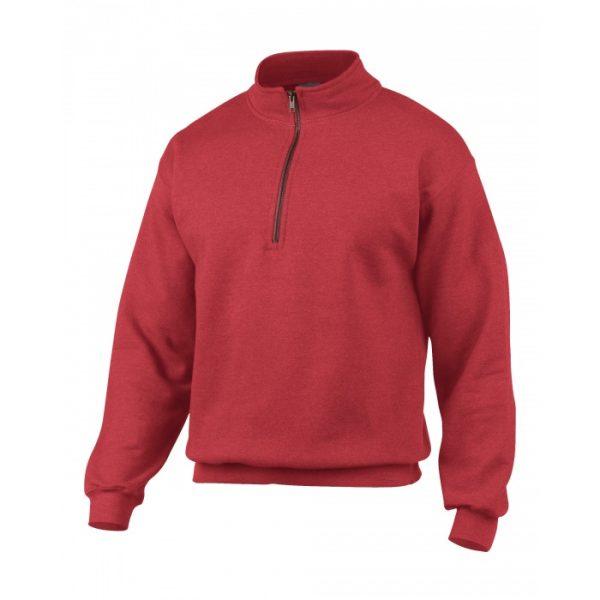 sweatshirt med halv zip og logo
