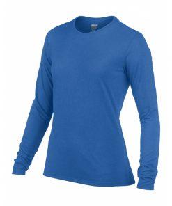 Langermet t-skjorte til dame i polyester - logo