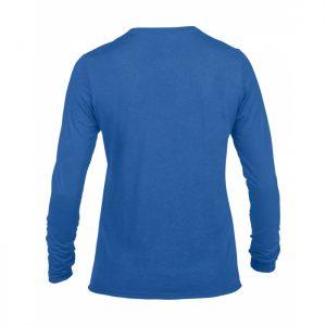 langermet t-skjorte i polyester med egen logo - dame