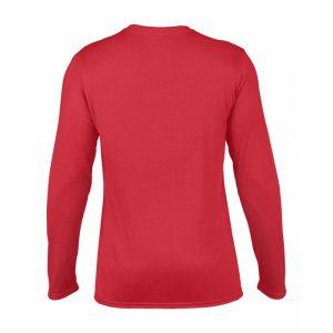 t-skjorte i polyester med lange ermer og trykk
