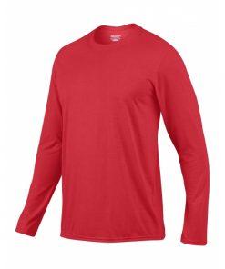 langermet t-skjorte i polyester med logo