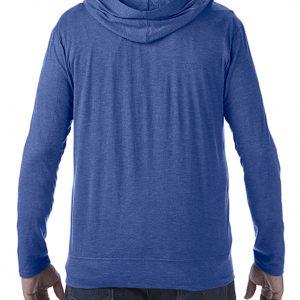 zip hoodie med trykk