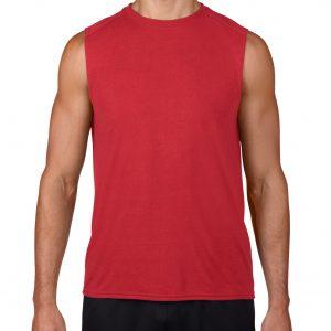 t-skjorte uten ermer med trykk