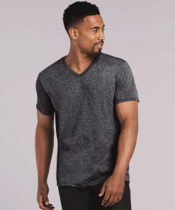 T-skjorte med v-hals og trykk