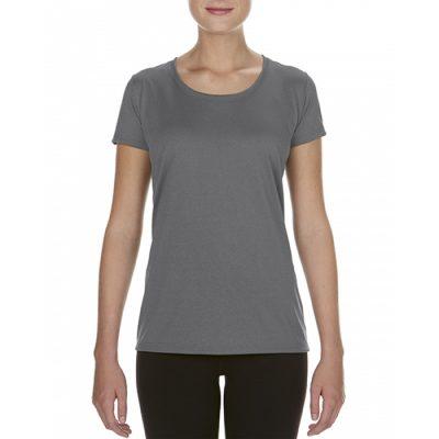 Teknisk t-skjorte til dame, med trykk